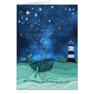 Moby Dick at Penmon Anglesey, Wales , ocean sea Card