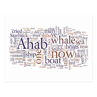 Moby Dick last chapters words postcard