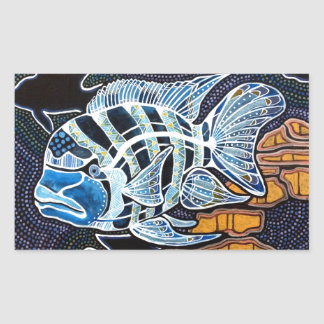 Moby the Cichlid Rectangular Sticker