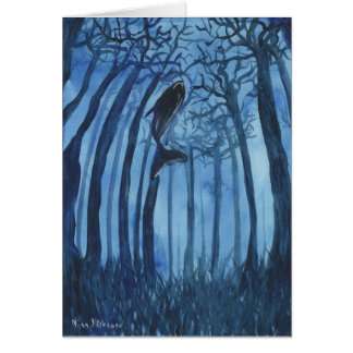 Moby's forest Whale Greeting Card