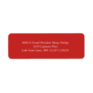 MOCA RETURN ADDRESS LABEL