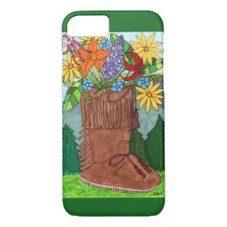 Moccasin with Alpine Wildflowers iPhone 7 Case