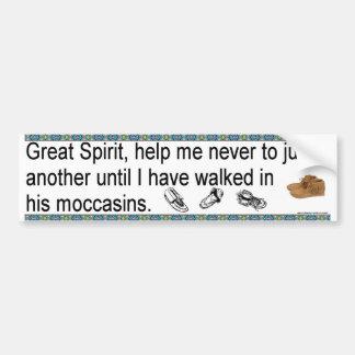 Moccasins Bumper Sticker