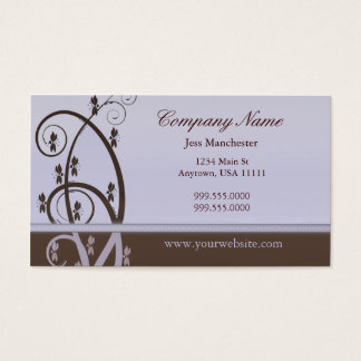 Mocha and Lilac Vine Business Card