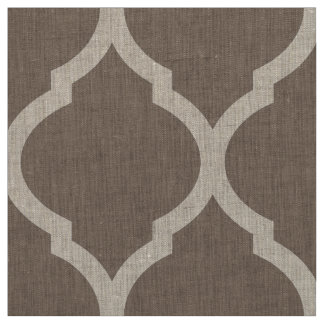 Mocha Brown Moroccan Quatrefoil Large Scale Fabric