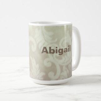 Mocha Brown Paisley Mug, Customizable Coffee Mug