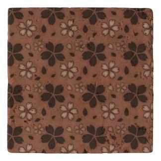 Mocha Floral Trivet