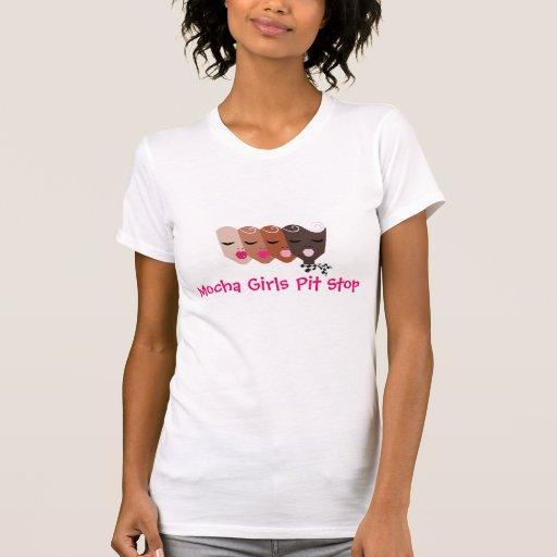 Mocha Girls Pit Stop T-Shirt