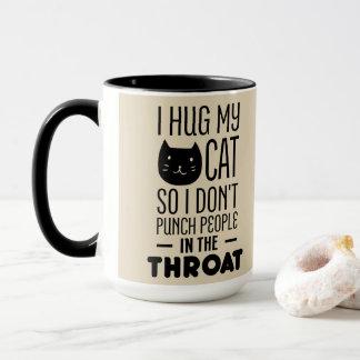 Mocha I Hug My Cat - Kitten Face - Cat Keeper Gift Mug