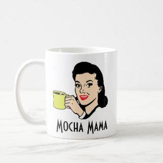 Mocha Mama Custom Name Retro Vintage 1950's Funny Coffee Mug