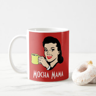 Mocha Mama Custom Red Retro Vintage 1950's Funny Coffee Mug