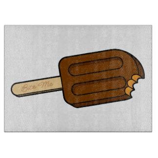 Mocha Popsicle Bite Me Cutting Board