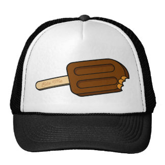 Mocha Popsicle Bite Me Hat (Black/White)