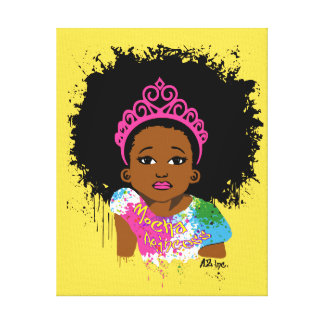 Mocha Princess Canvas Art