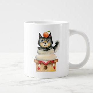 """Mochi Shiba"" Dog Watercolor Illustration Large Coffee Mug"