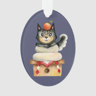 """""""Mochi Shiba"""" Dog Watercolor Illustration Ornament"""