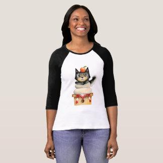 """Mochi Shiba"" Dog Watercolor Illustration T-Shirt"