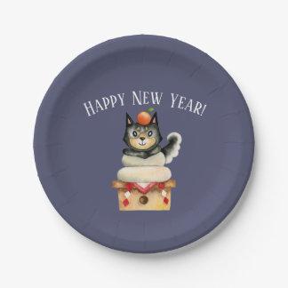 Mochi Shiba New Year's Paper Plate
