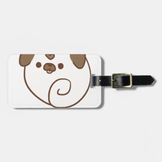 Mochi the Pug Luggage Tag