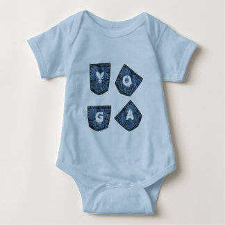 Mock Denim Pockets - Baby Yoga Clothes Baby Bodysuit
