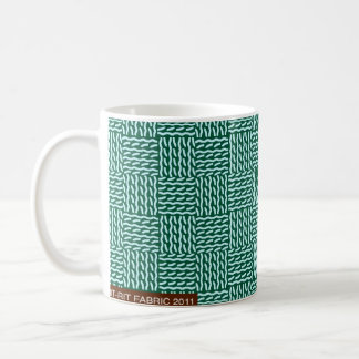 Mock knit green mug