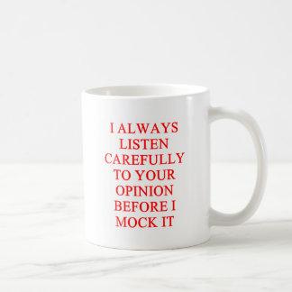 MOCK you insult Basic White Mug