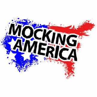 Mocking American Signature Logo Standing Photo Sculpture