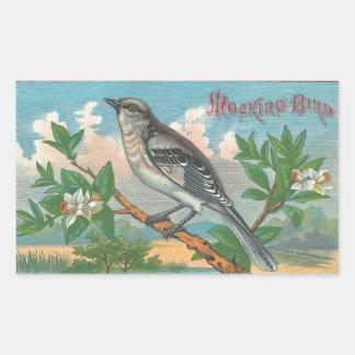 Mocking Bird Rectangular Sticker
