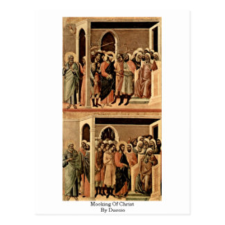 Mocking Of Christ By Duccio Postcard