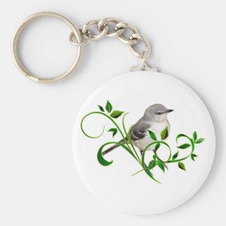 Mockingbird Beauty Basic Round Button Key Ring