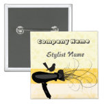 Mockingbird Hair Stylist Name Tag 15 Cm Square Badge