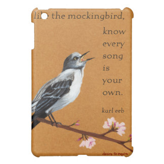 "Mockingbird: iPad ""Know Every Song is Your Own."" iPad Mini Case"