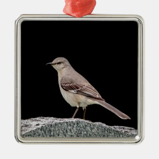 Mockingbird on a tombstone metal ornament
