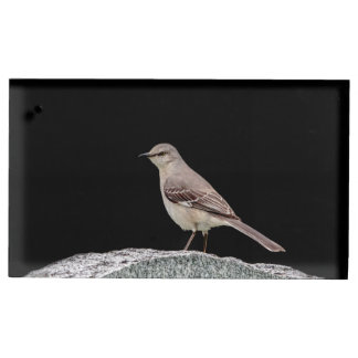 Mockingbird on a tombstone table number holder