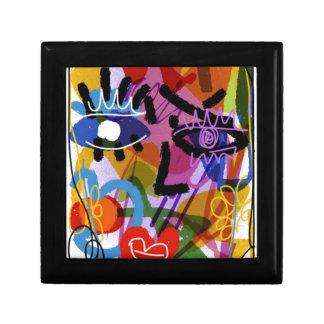 Mod Abstract  Face Digital Drawing Gift Box