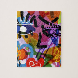 Mod Abstract  Face Digital Drawing Jigsaw Puzzle