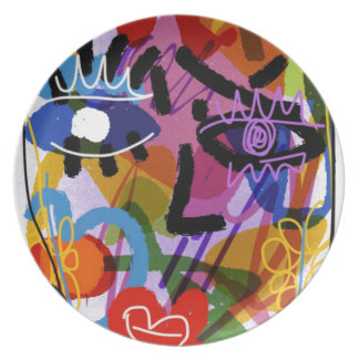 Mod Abstract  Face Digital Drawing Plate