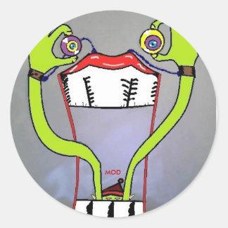MOD Alien Round Sticker