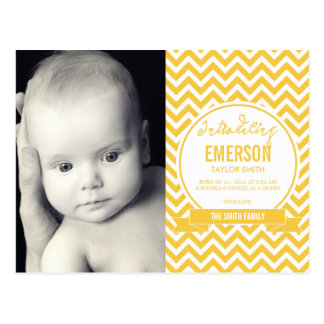 Mod Baby Birth Announcement - Sunshine Postcard