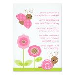 Mod Baby Bugs Birthday Invitation 13 Cm X 18 Cm Invitation Card
