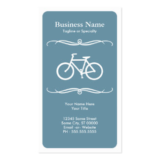 mod bicycle pack of standard business cards
