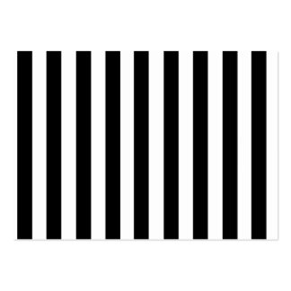 Mod Black and White Stripes Pattern Pack Of Chubby Business Cards