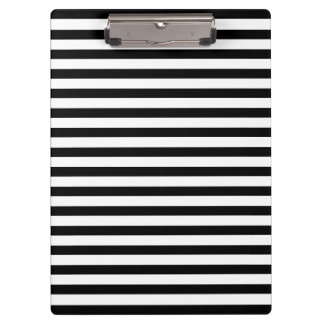 Mod Black and White Stripes Pattern Clipboard