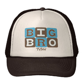 MOD Blocks Big Bro - Blue & Brown Personalized Cap