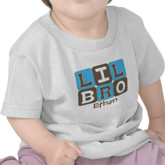 MOD Blocks Lil Bro - Blue & Brown Personalized Shirt
