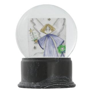 Mod Blue Angel Snow Globe