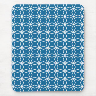 Mod Blue Geometric Pattern Mouse Pad