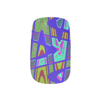 Mod Blue PopArt Abstract Minx ® Nail Wraps