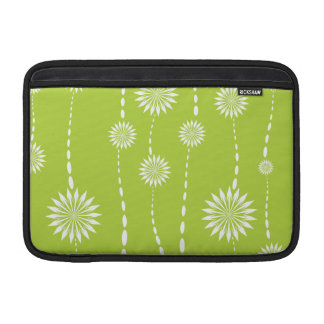 Mod Bold Lime Green flowers MacBook Air Sleeve