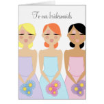 mod BRIDESMAID custom THANK YOU card